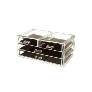 Boîte à bijoux - Acrylique transparent - 4 tiroirs