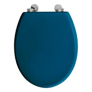 Abattant WC Boliva - Bois - Bleu Canard