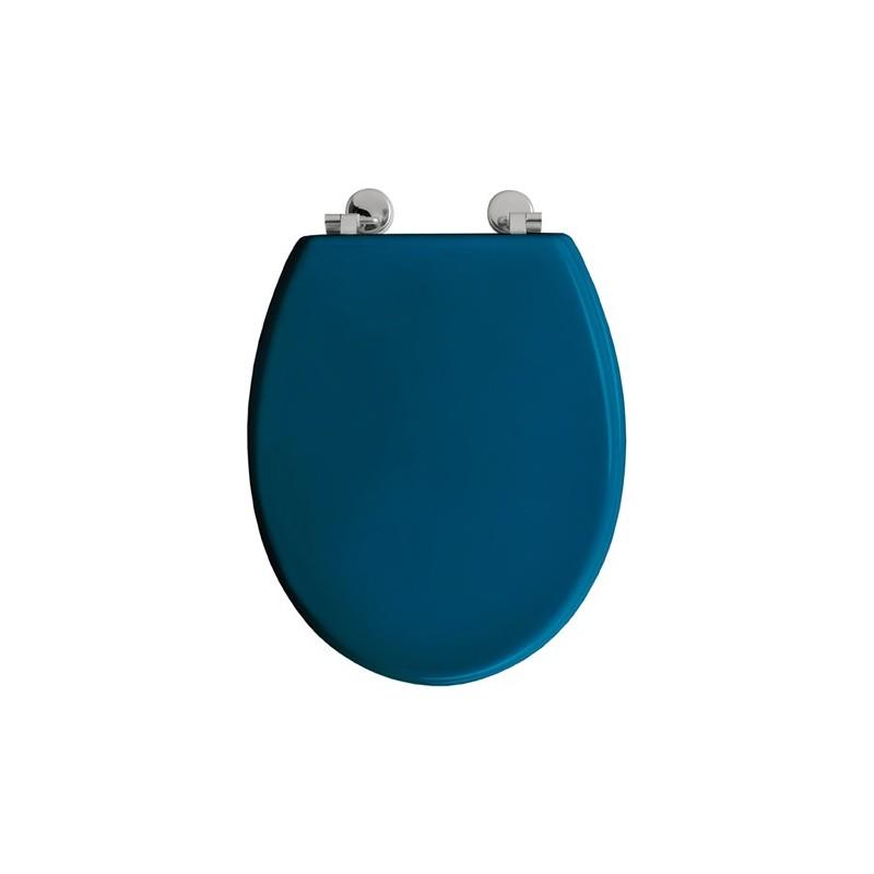 Abattant wc boliva bois bleu canard toilinux - Abattant wc bois ...