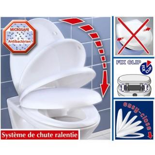 Abattant WC Ottana résine frein de chute - Blanc
