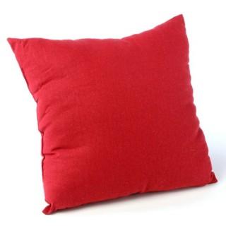 Coussin déhoussable - 38 x 38 cm - Rouge