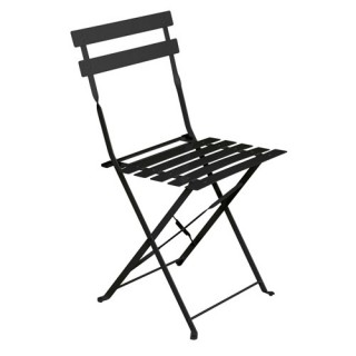 Chaise de jardin pliante Camarque - Noir
