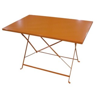 Table de jardin pliante Camargue - 110 x 70 cm - Orange