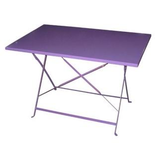 Table de jardin pliante Camargue - 110 x 70 cm - Violet