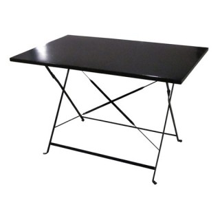 Table de jardin pliante Camargue - 110 x 70 cm - Noir