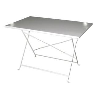 Table de jardin pliante Camargue - 110 x 70 cm - Blanc