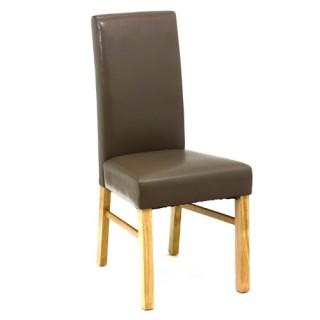 Chaise de salon - Hévéa - Taupe
