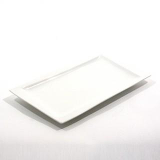 Assiette à dessert rectangulaire Géométrique - Porcelaine