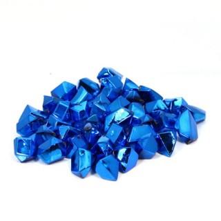 Pierres de table décoratives brillantes - Carré - Turquoise