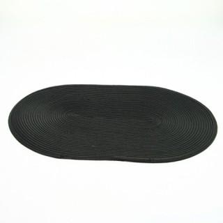 Set de table tressé Ovale - 44 x 29 cm - Noir