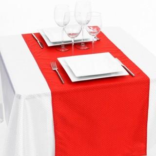 Chemin de table - 40 x 140 cm - Rouge et or