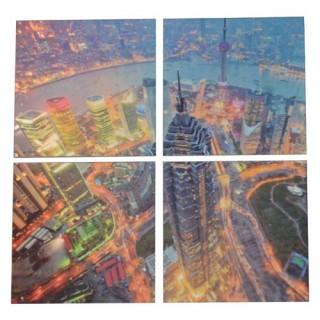Cadre imprimé 4 photos - L. 120 cm - Shanghai