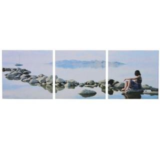 Cadre imprimé 3 photos - L. 150 cm - Nature