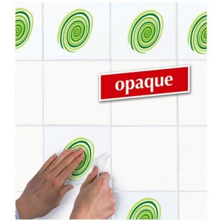 Appliques sticker autocollant pour carrelage - Décoration spirales vertes