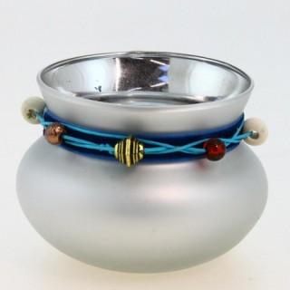 Photophore lumignon boule Ruban - Argent