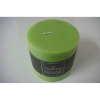 Bougie ronde Rustic - Diam. 10 cm - Vert
