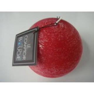 Bougie boule Rustic - Diam. 12 cm - Rouge