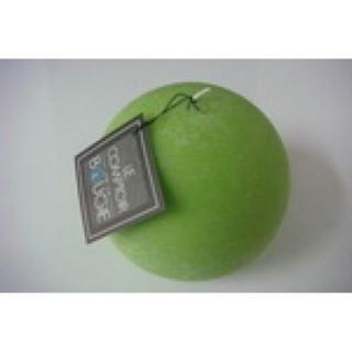 Bougie boule Rustic - Diam. 12 cm - Vert