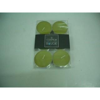 Lot de 6 bougies colorées - Diam. 3,8 cm - Vert