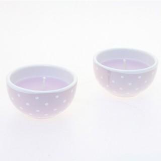 Bougie en pot - Céramique - Lilas