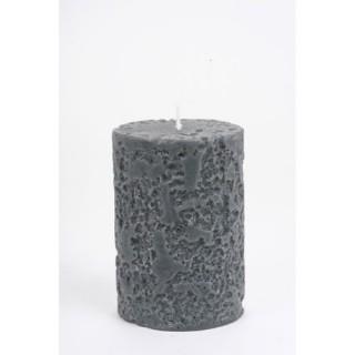 Bougie Rustique - Diam. 6,5 cm - Ardoise