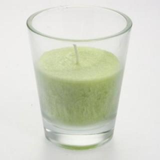 Bougie en pot Zen - H. 12 cm - Vert