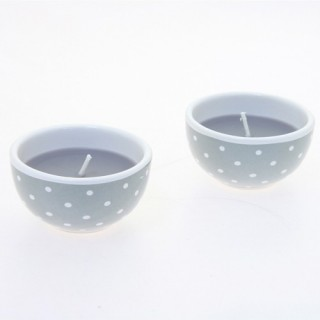 Lot de 2 bougies avec imprimés motif étoiles - Lilas foncé