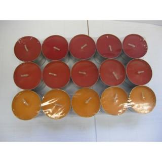 Lot de 30 bougies parfumées - Fruits tropicaux