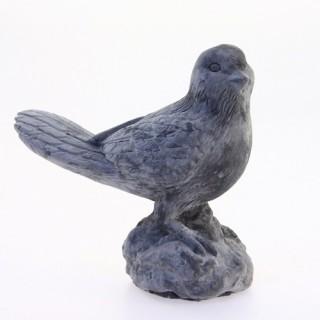 Oiseau décoratif en ciment - Gris