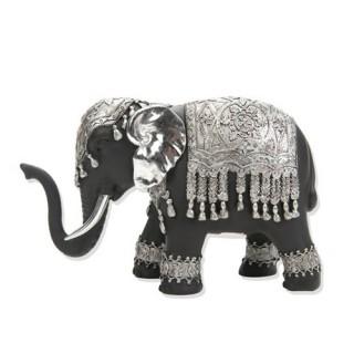 Statuette éléphant Grand modèle - Noir et argent