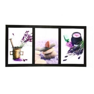 3 toiles imprimées déco Lavande - L. 60 cm - Pots