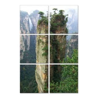 Cadre imprimé 6 photos - L. 120 cm - Montagne