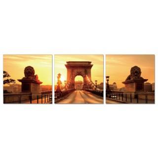 Cadre imprimé 3 photos - L. 150 cm - Arc de triomphe