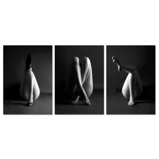 Cadre imprimé 3 photos - L. 150 cm - Jambes