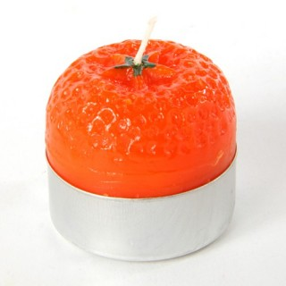Lot de 6 bougies parfumées Fruit - Orange