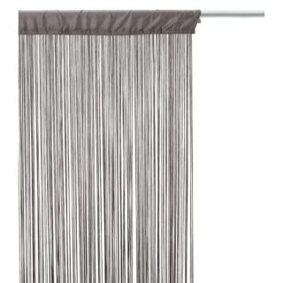 Rideau fils - 90 x 200 cm - Gris