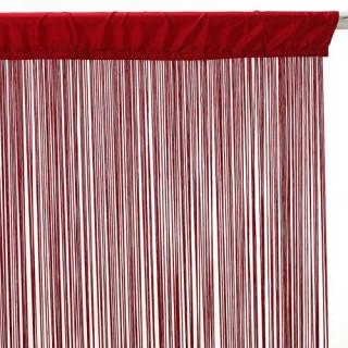 Rideau fils - 90 x 200 cm - Rouge
