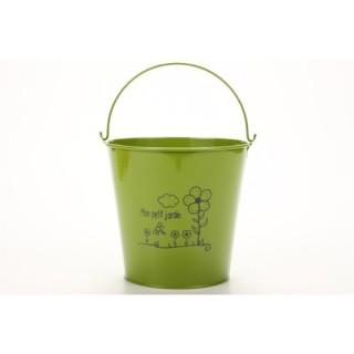 Cache-pot - Métal - Vert foncé
