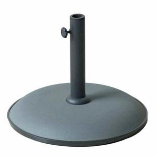 Pied de parasol - Béton - 15 Kg - Gris