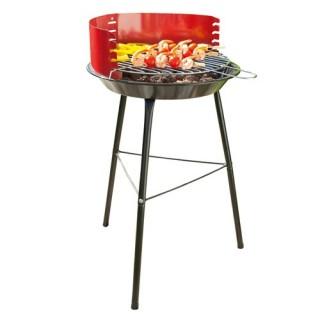Barbecue à charbon Corinto - Acier - Rouge
