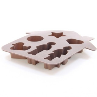 Moule fantaisie Maison - Silicone - Taupe