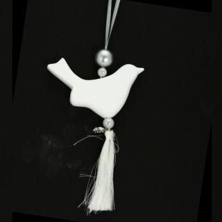 Décoration parfumée à suspendre - Parfum coton- Oiseau