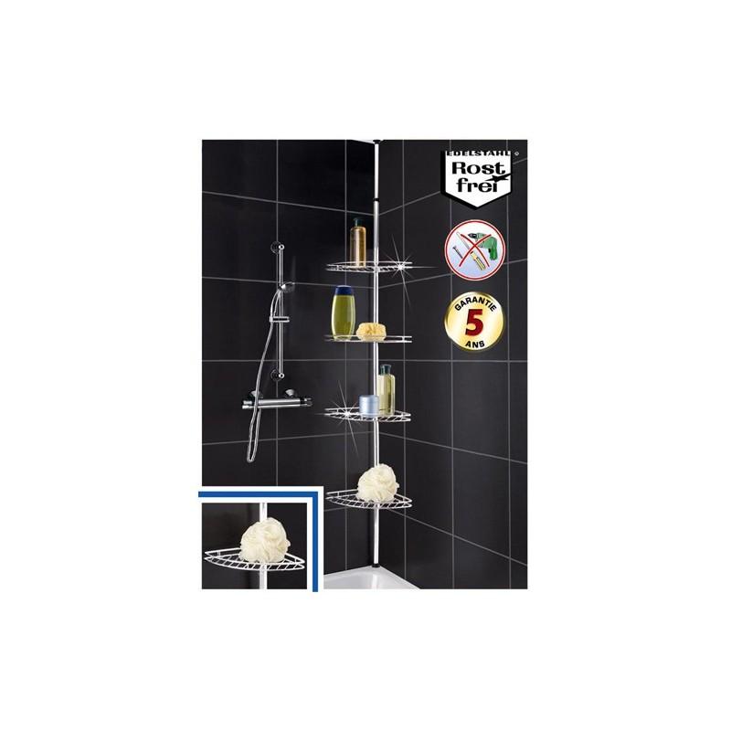 etag re t l scopique en inox angle de salle de bain toilinux. Black Bedroom Furniture Sets. Home Design Ideas