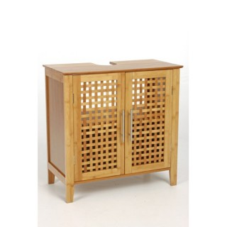 Meuble dessous de lavabo - Double porte - Gamme bambou