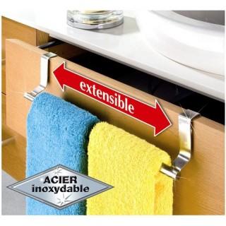 Porte-serviettes acier extensible pour porte