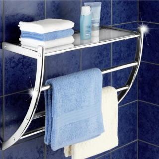Porte-serviettes Pescara - Acier chromé