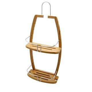 Serviteur étagère de douche 2 niveaux - Gamme Bambou