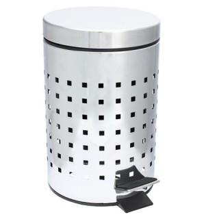 Poubelle WC / Salle de bain Cube - Inox - 3L - Argent