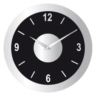 Pendule design en aluminium - Diam. 30 cm - Noir