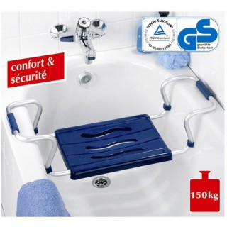 Siège de baignoire en aluminium - Bleu